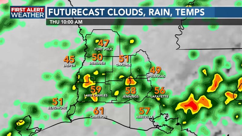 Rain continues through today as temperatures fall