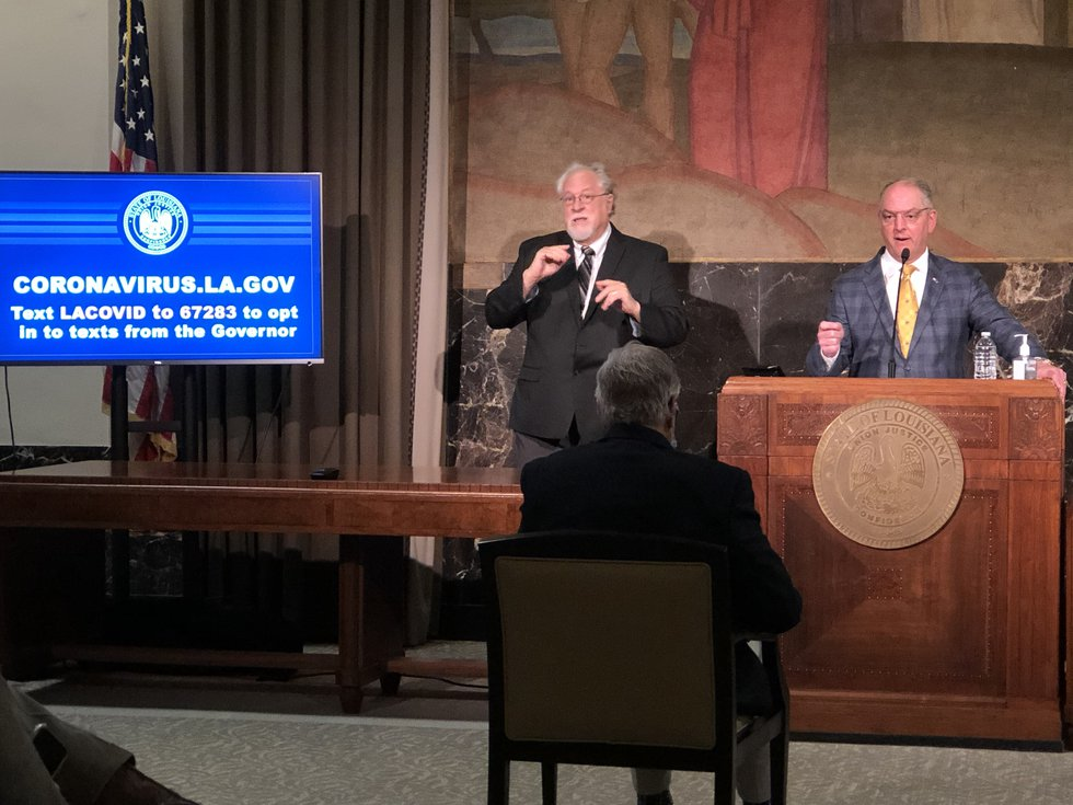 Gov. John Bel Edwards said in a press conference held Monday, May 18 that he's optimistic the...