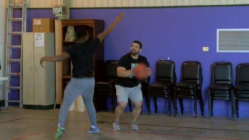 BBBS SWLA match plays basketball