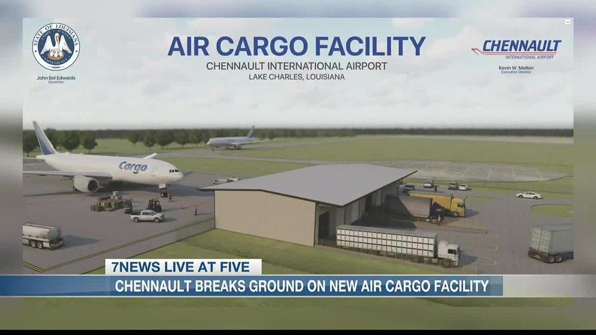 Chennault International Airport breaks ground on new air cargo facility.