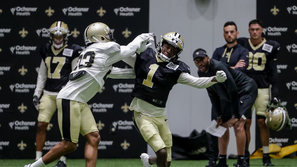 Marshon Lattimore (23) could miss time with a thumb injury. (AP Photo/Derick Hingle) New...
