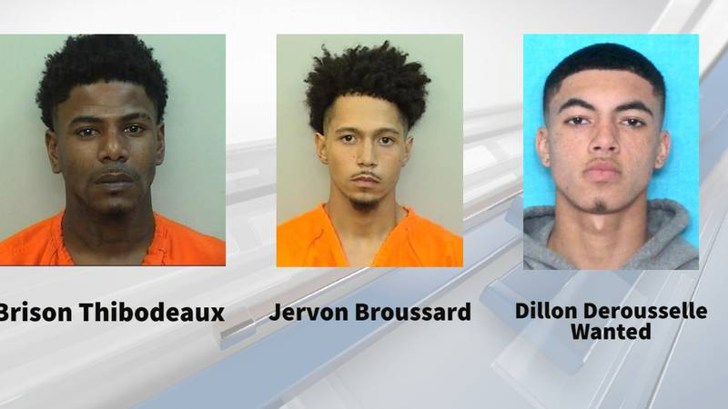 Authorities arrest two and still searching for third suspect accused of drive-by shooting