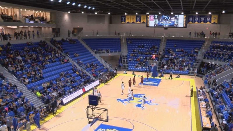 The McNeese Cowboys men's basketball christened their new arena at their first home game...