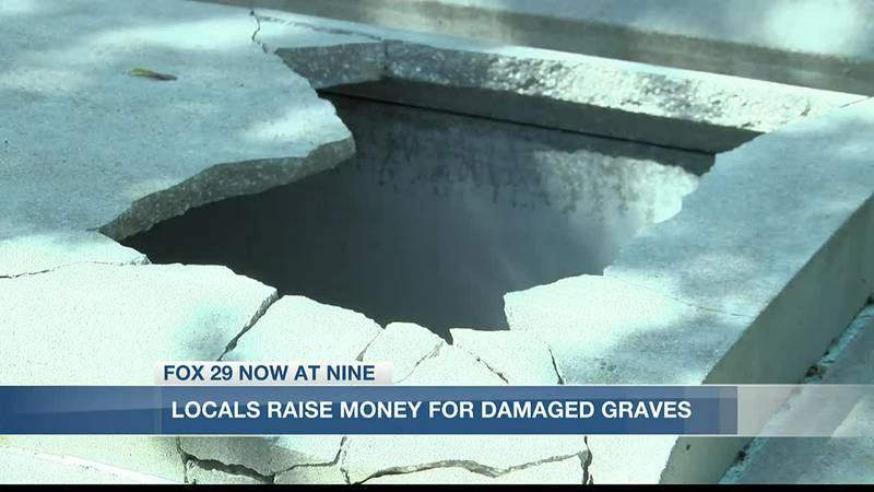 Locals are raising money to help pay for vandalized graves at Dutch Cove Cemetery in Sulphur.