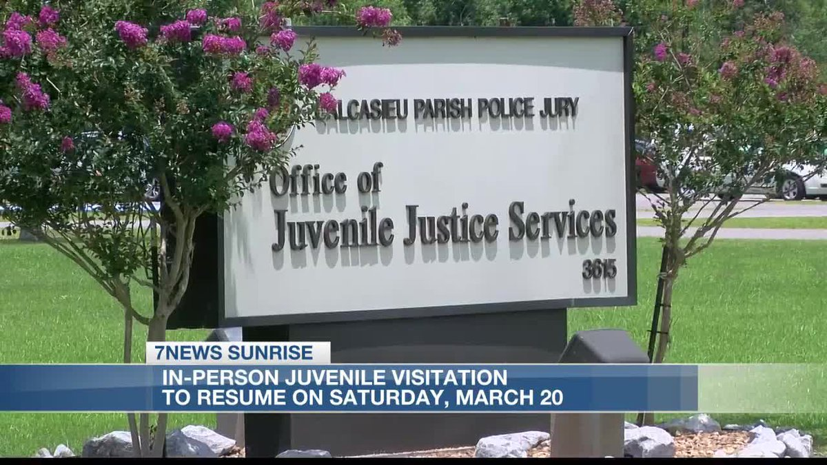 In-person Juvenile visitation to resume on Saturday, March 20th