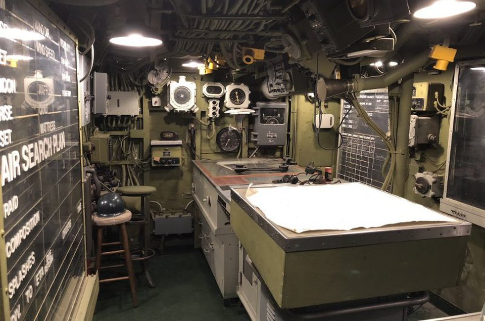 Located on the main deck level and directly above IC-Plot is the Combat Information Center....