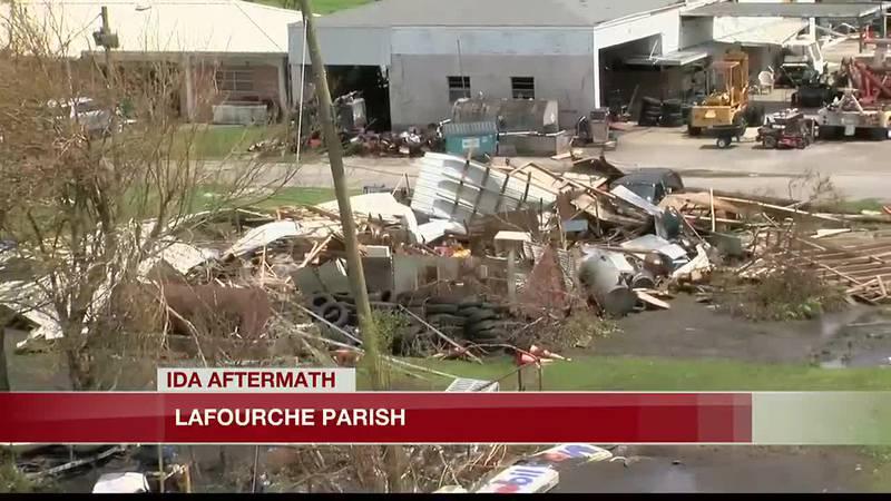 Lafourche Parish Ida damage