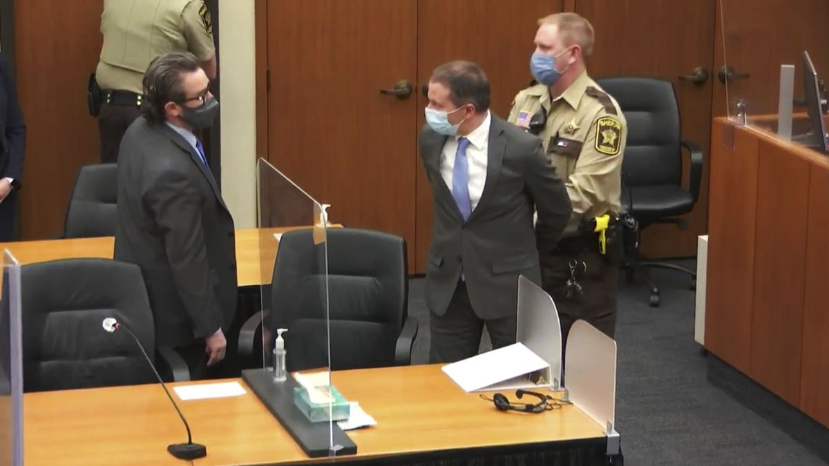 FILE - In this April 20, 2021 file image from video, former Minneapolis police officer Derek...