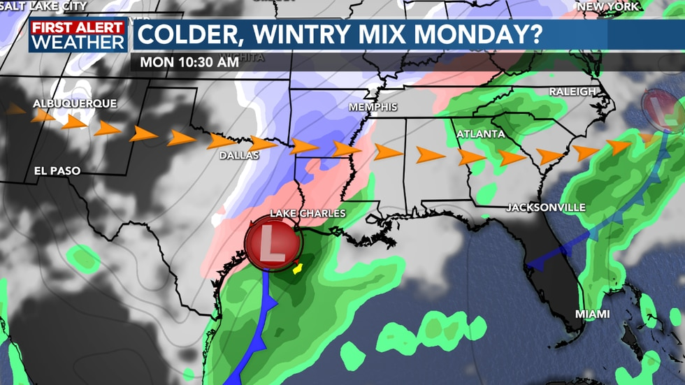 Confidence increasing for wintry weather on Monday