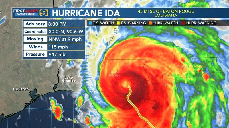 Hurricane Ida: August 29 - 8 p.m.