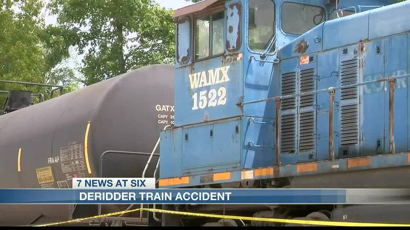 The train accident happened at a rock yard just outside of city limits, near S. Washington...