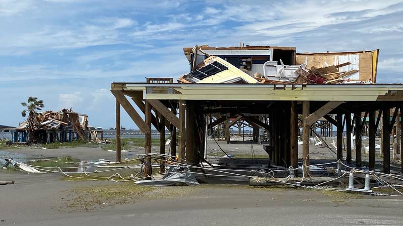 Gusts over 140 mph devastated the community of Grand Isle.