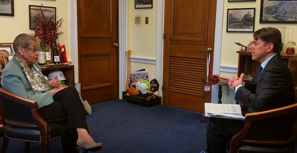 Congresswoman Eleanor Holmes Norton speaks with White House Correspondent Jon Decker.