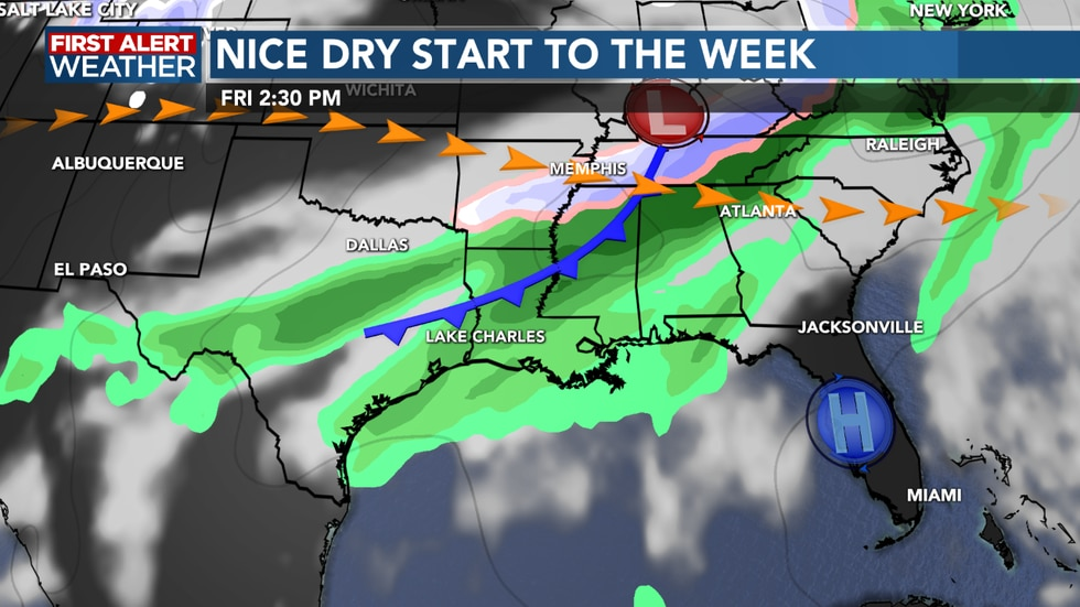 Our next front moves through heading into Friday