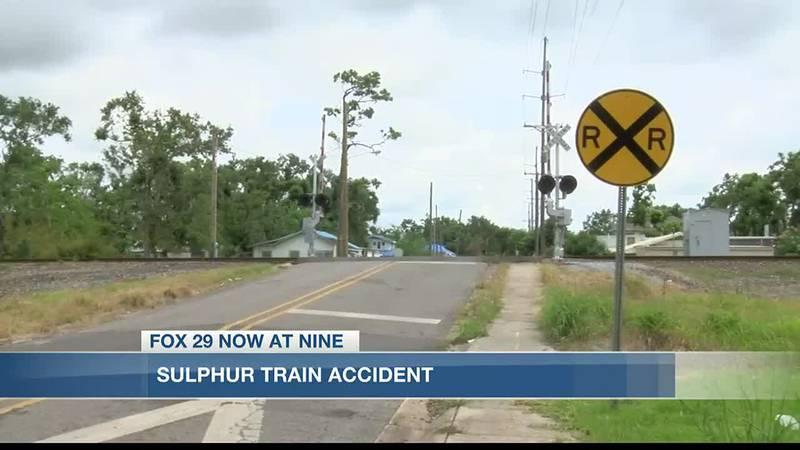 Sulphur woman dies after being struck by train