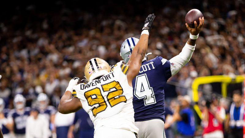 The New Orleans Saints host the Dallas Cowboys on Sunday Night Football.