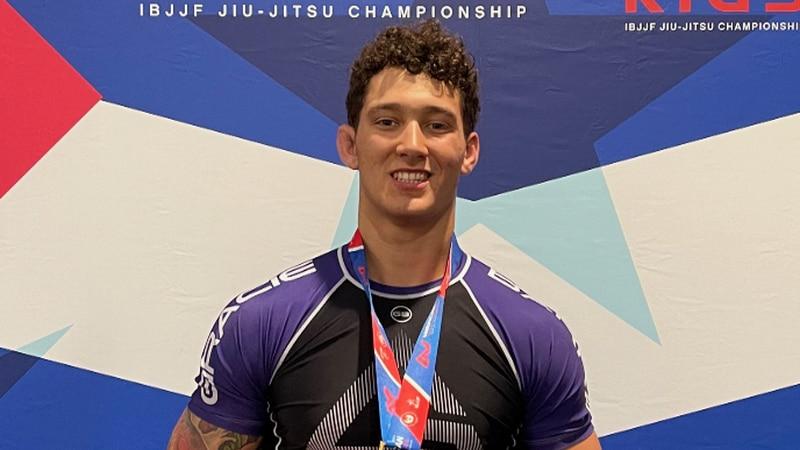 Gavin Sonnier after winning gold at the American National IBJJF Jiu-Jitsu No-Go Championships