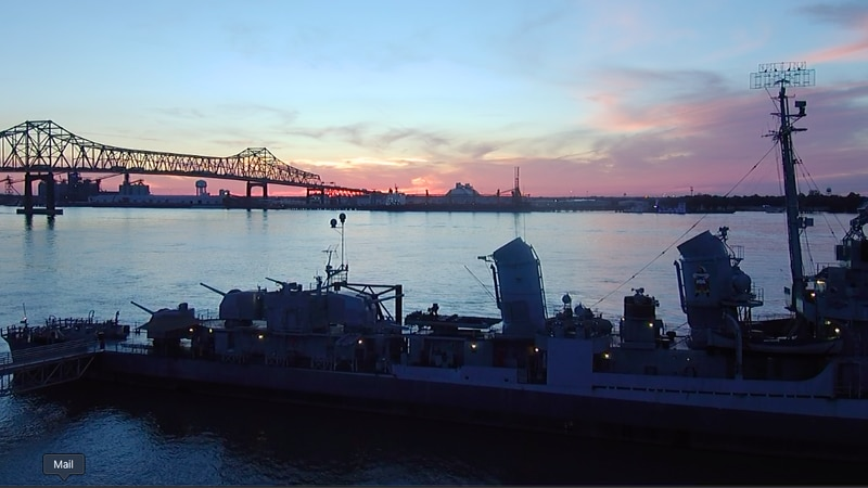 WAFB file photo of the USS KIDD in downtown Baton Rouge, La.