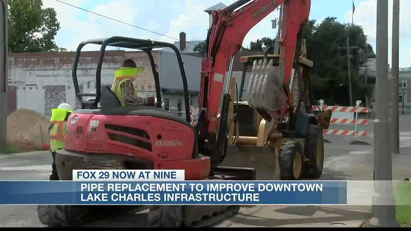 Pipe replacement to improve downtown Lake Charles wastewater system