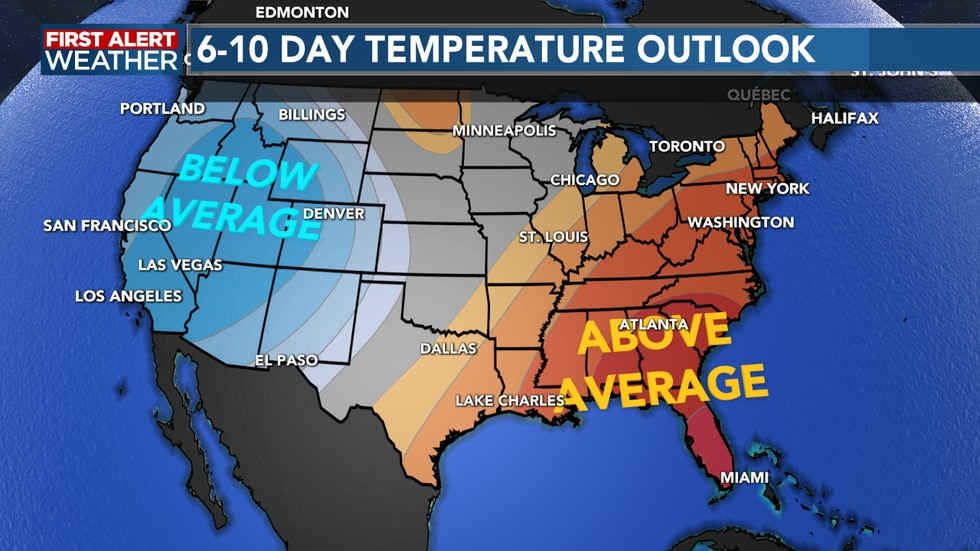 Temperatures remain on the warmer side through next week