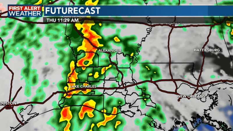 Severe storms possible Thursday