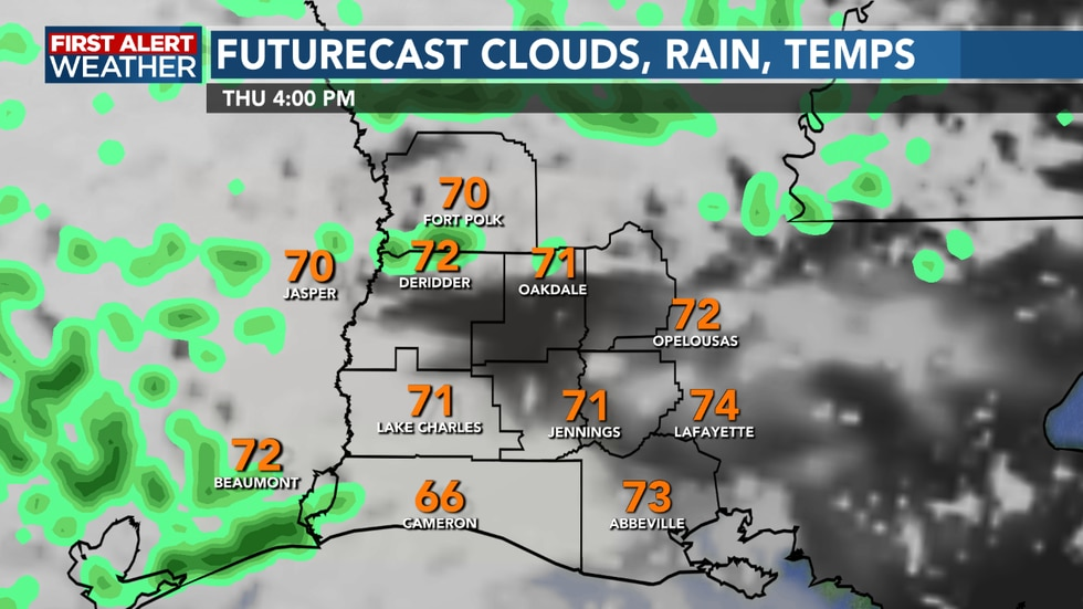 Rain chances remain on the lower side, but we could see a few showers this afternoon