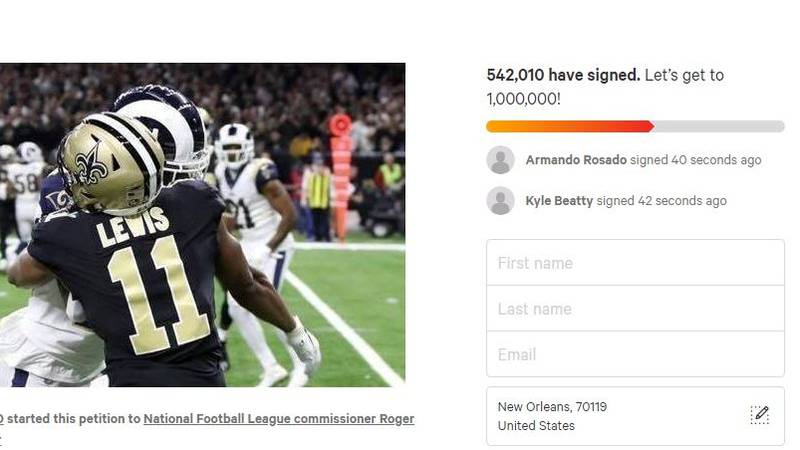 A petition for an NFC rematch has reached over 500k signatures.