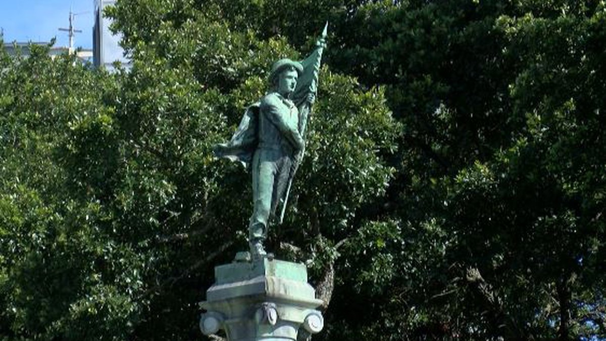 The South's Defenders Memorial Monument was put on the lawn of the Calcasieu courthouse in...