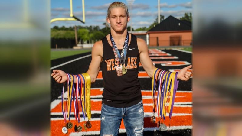 Westlake senior pole vaulter Brock Meyer