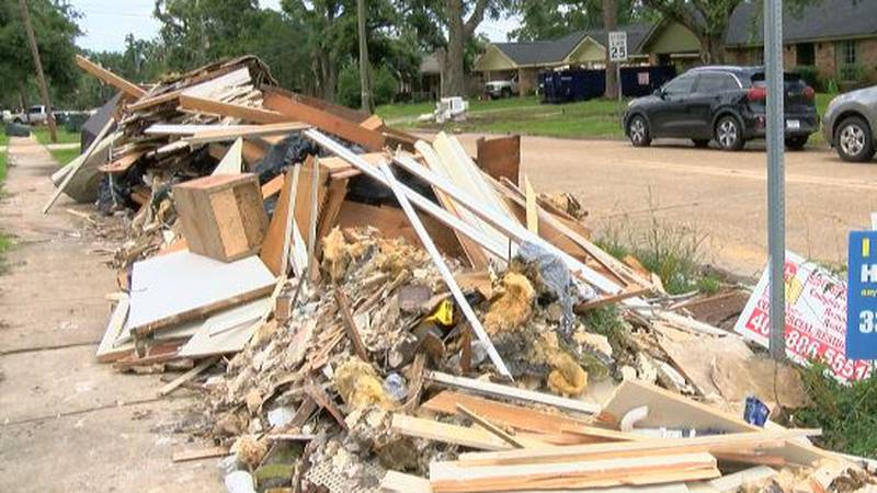 This is the contents of one home on Cherrydale gutted due to flooding May 17.