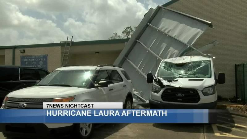 Calcasieu Coroner's Office damaged during storm