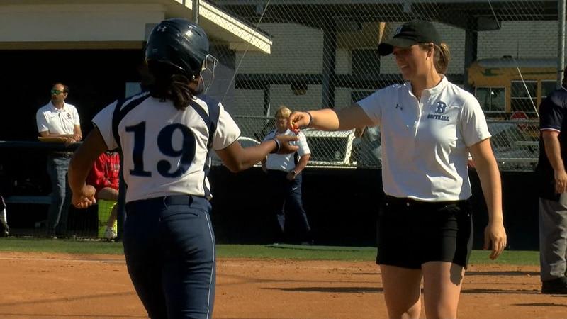 Barbe softball coach Candyce Carter