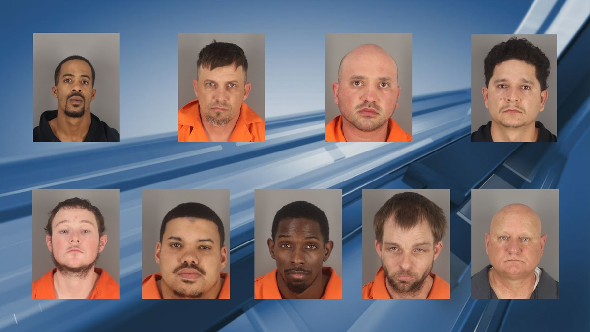 Nine men were arrested for attempting to purchase sex from adult females, three of those men...