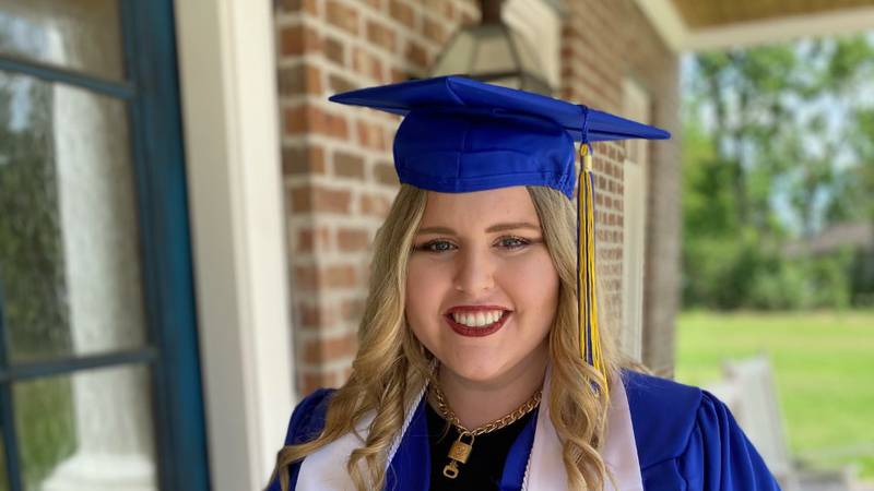 Robideaux graduated from McNeese on May 14