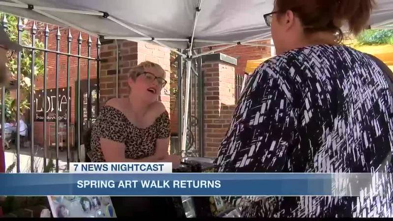 Artists and vendors interact with customers after much-awaited Spring Art Walk