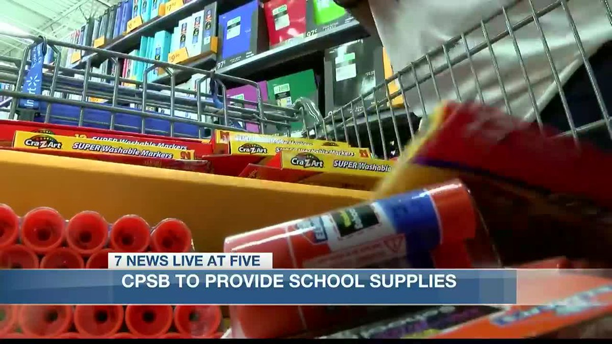School supplies to be provided for Pre-K through 8th grade students in Calcasieu.