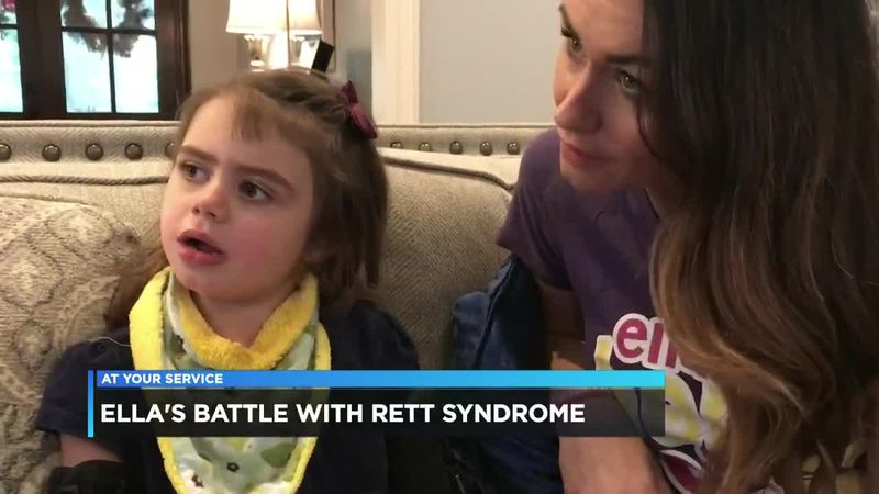 Ella, a 5-year-old Southwest Louisiana girl, has been diagnosed with the rare condition, Rett...