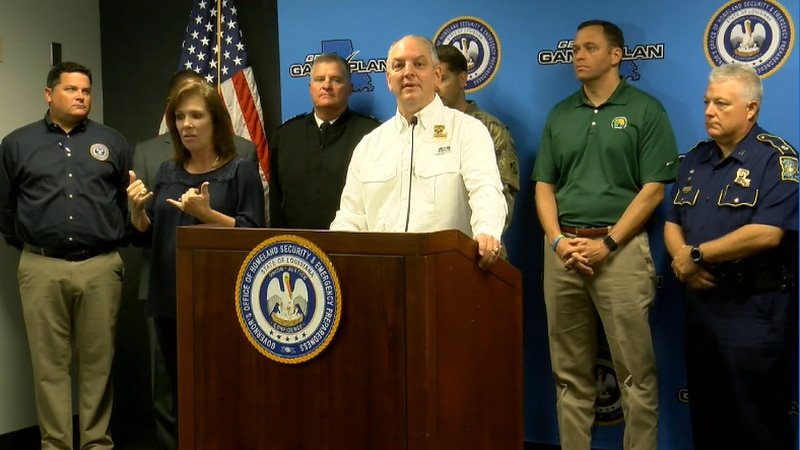 Gov. Edwards holds press conference ahead of potential storm.