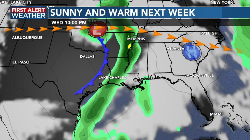 Rain chances return as we see a cold front mid week