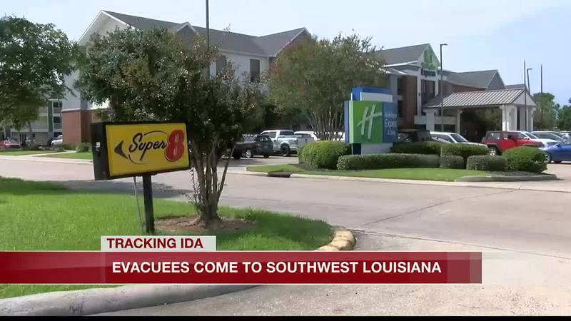 evacuees come to SWLA
