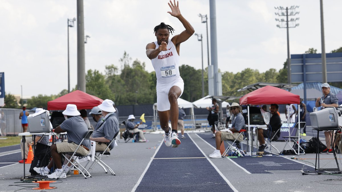 Christian Edwards soared to a triple jump mark of 16.39 meters at the NCAA East Preliminary.