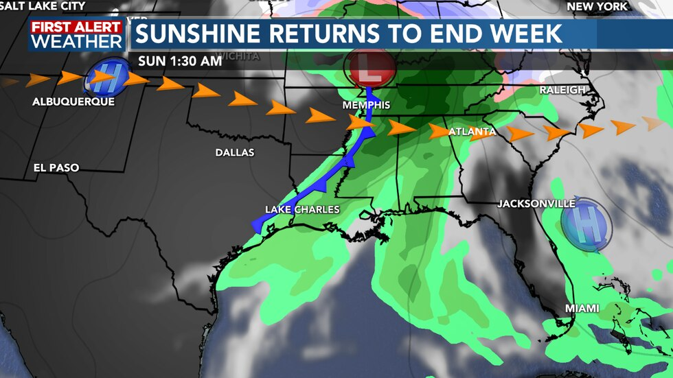Our next front pushes through late Saturday into early Sunday