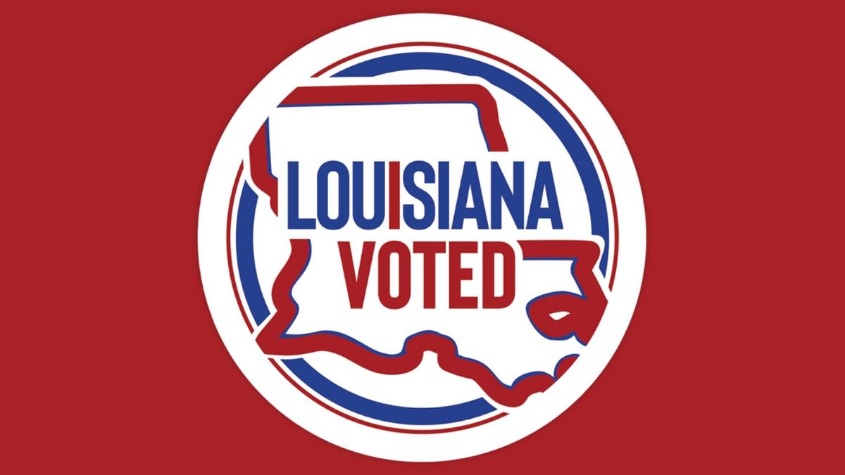 """Louisiana """"I Voted"""" sticker."""