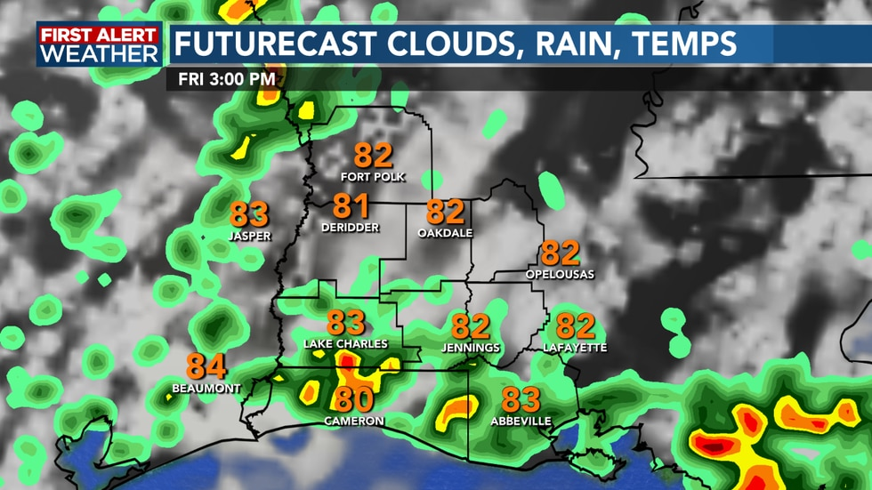 Scattered showers and storms return for Friday afternoon