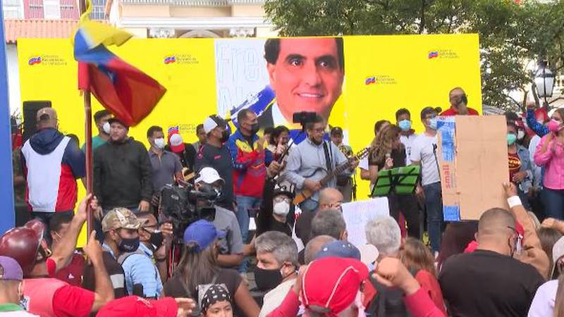 Protesters demonstrated in Venezuela in support of Alex Saab, who was extradited to the U.S....