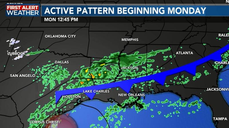 Rain chances increasing Monday