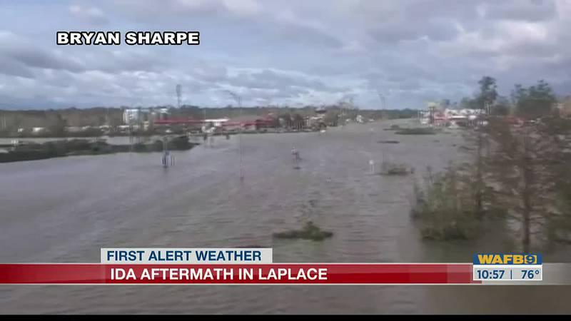 Hurricane Ida damage in LaPlace