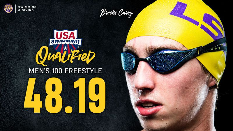 LSU swimmer Brooks Curry qualified for the Tokyo Olympics.