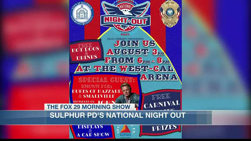 Sulphur Police Department's National Night Out to happen on August 3rd