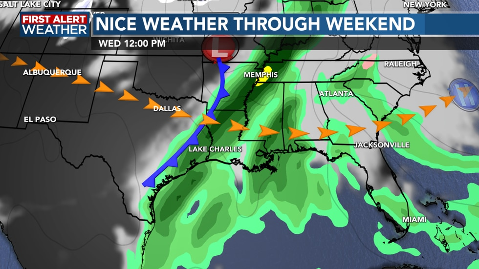 More rain in the forecast for the  middle of next week